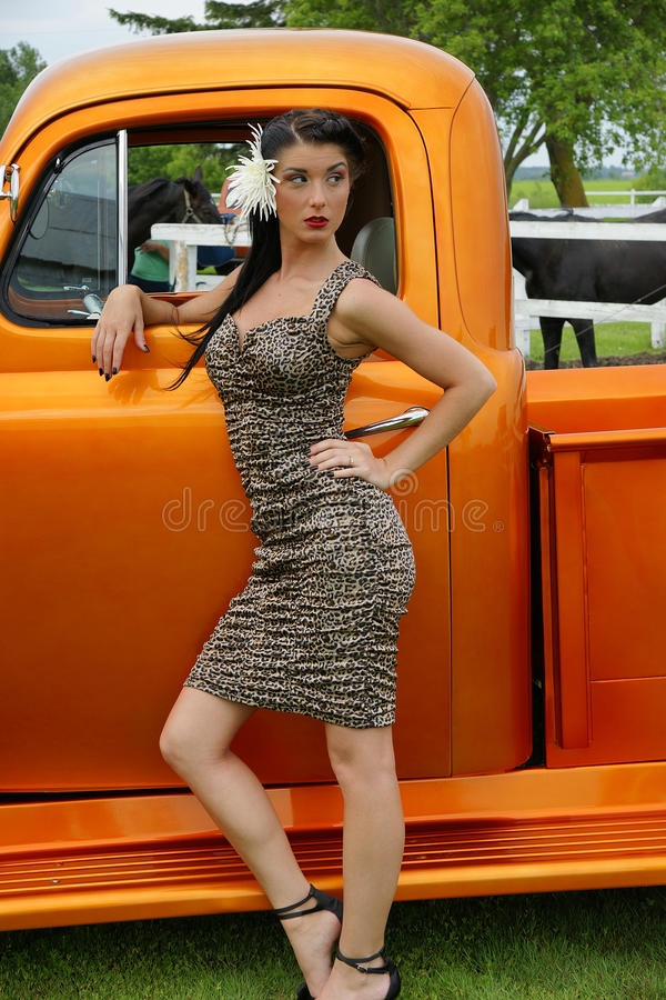 Beauty Outside The Truck Stock Photo