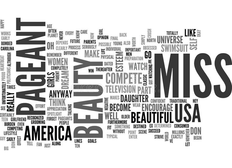 Beauty Pageant Word Cloud vector illustration