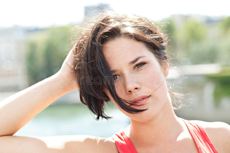 Download Beauty in Paris stock image. Image of caucasian, pretty - 27458839