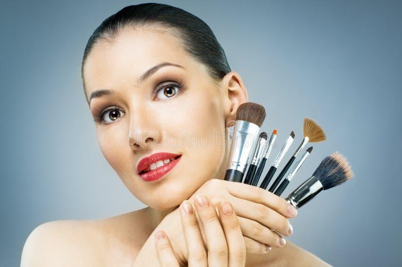 Download Beauty portrait stock photo. Image of brush, preparation - 16106052
