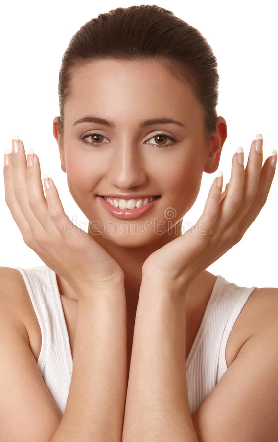 Download Beauty portrait stock photo. Image of healthy, hand, caucasian - 19354528