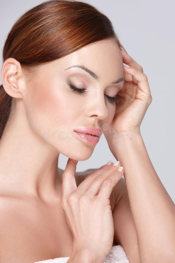 Download Beauty Portrait stock image. Image of closed, bath, figure - 20597213
