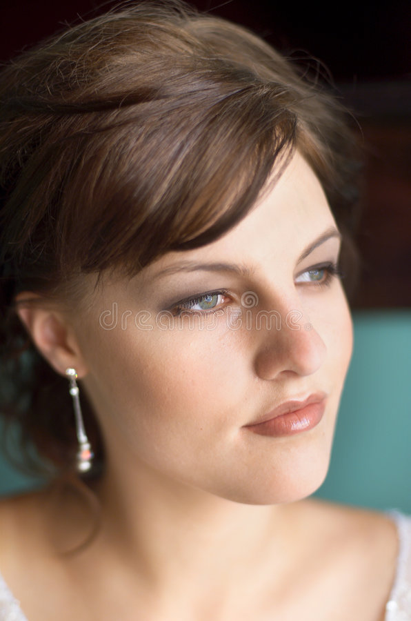 Beauty Portrait. Close up portrait of young female royalty free stock photos
