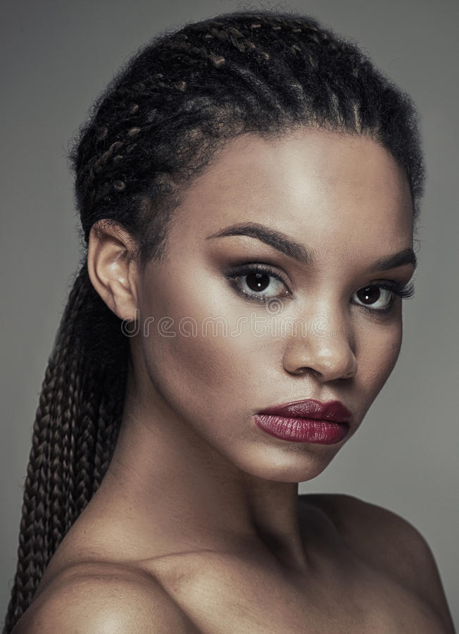 Beauty portrait of african girl. stock images