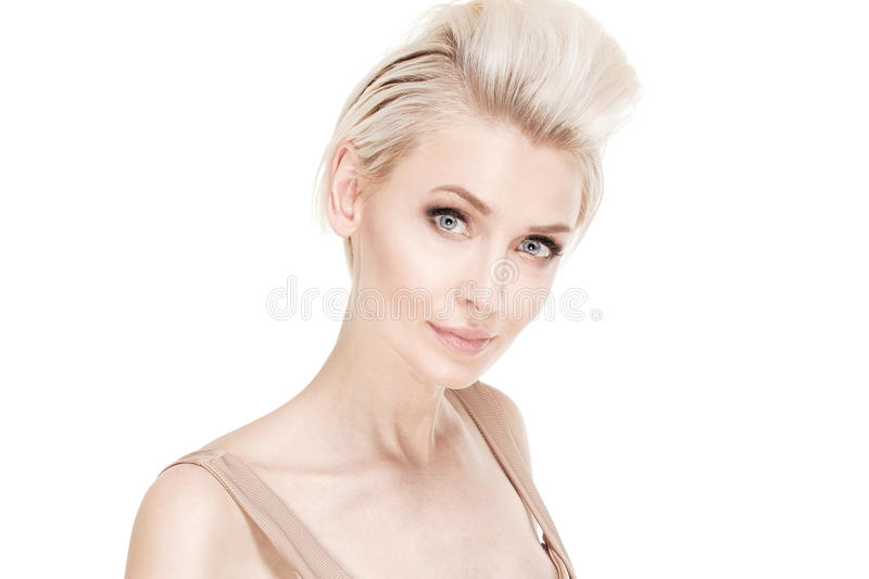 Beauty portrait of blonde girl. stock images