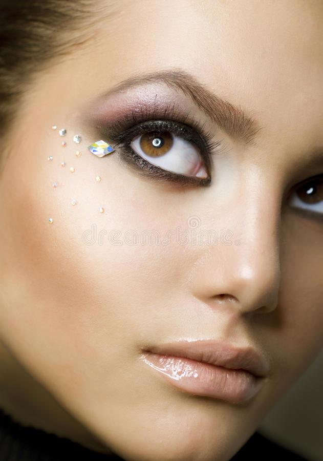 Download Beauty Portrait. Creative Makeup Stock Image - Image of draw, facial: 18865251