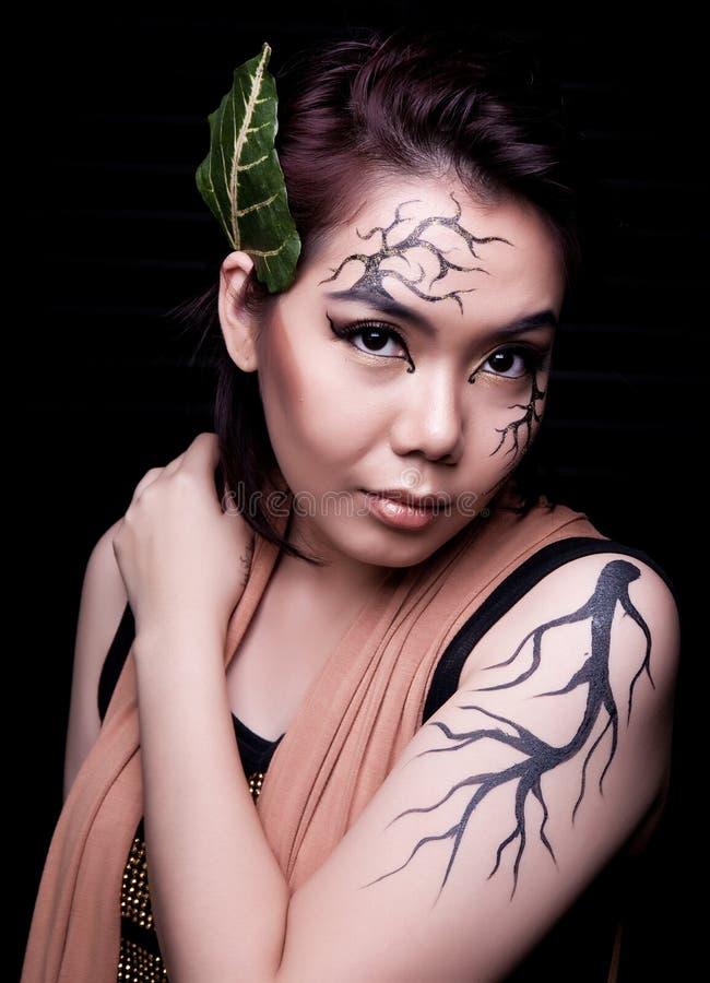 Beauty portrait. Creative makeup stock photo