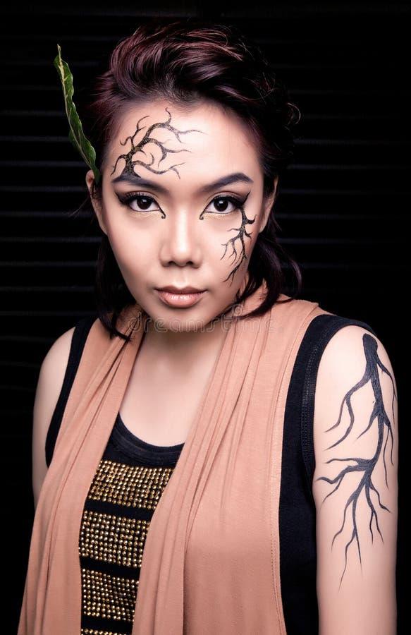 Beauty portrait. Creative makeup royalty free stock photo