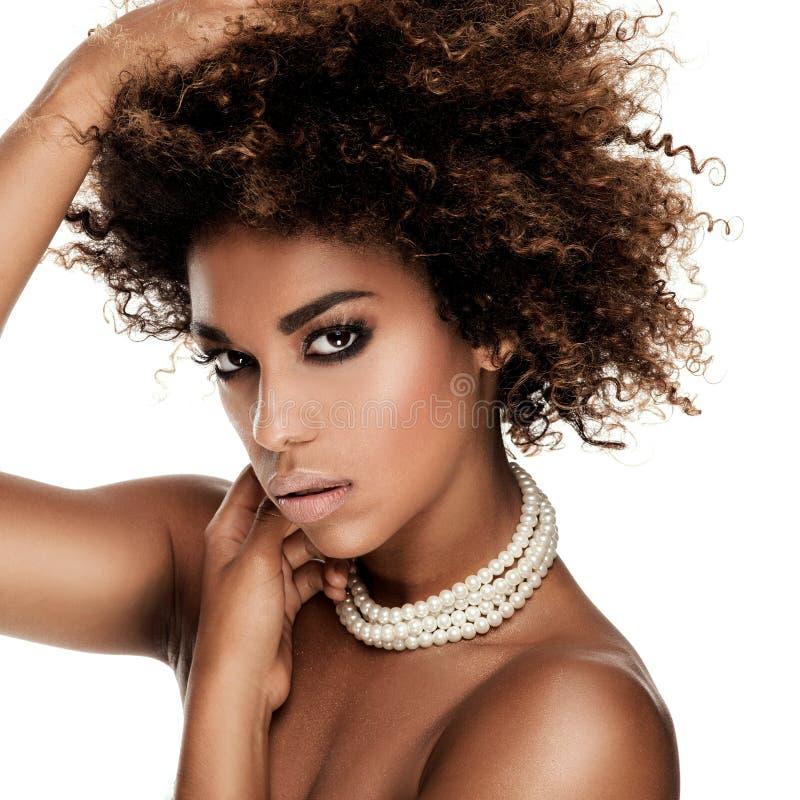 Beauty portrait of elegant african american woman. stock image