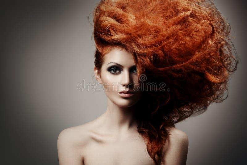 Beauty Portrait. Hairstyle stock photos