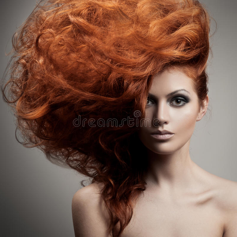 Beauty Portrait. Hairstyle royalty free stock image