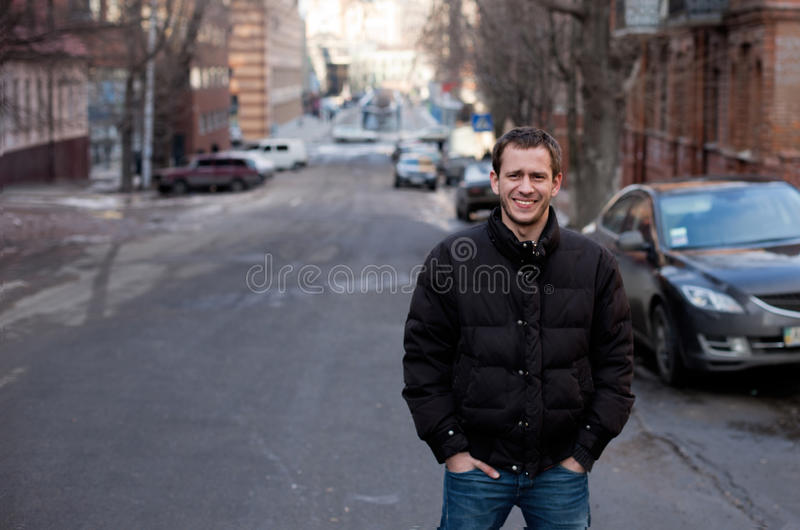 Download Beauty Portrait Of Handsome Man Urban Outdoor Stock Photo - Image: 35269552