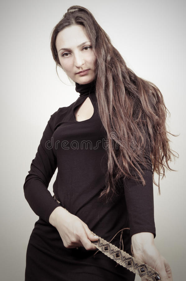 Download Beauty Portrait - Little Black Dress Stock Image - Image: 19309949