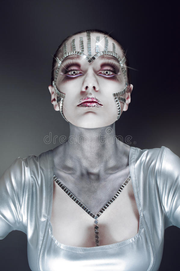 Download Beauty Portrait With Mirror Shatters Stock Photo - Image: 20305542