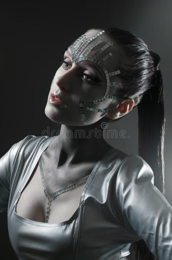 Download Beauty Portrait With Mirror Shatters Stock Photo - Image: 20498984