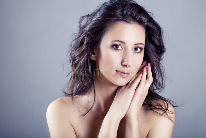 Beauty portrait of caucasian woman royalty free stock photos