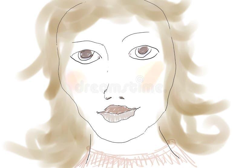 Beauty Portrait royalty free illustration