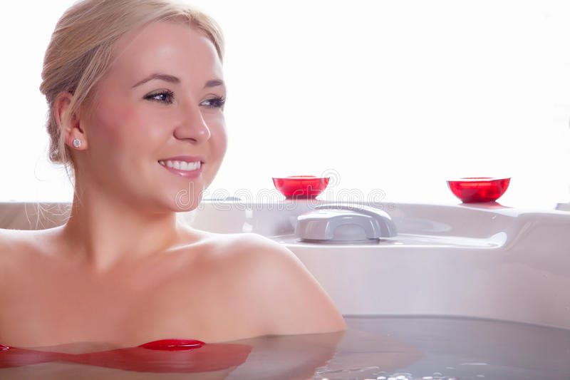 Beauty portrait in water royalty free stock images