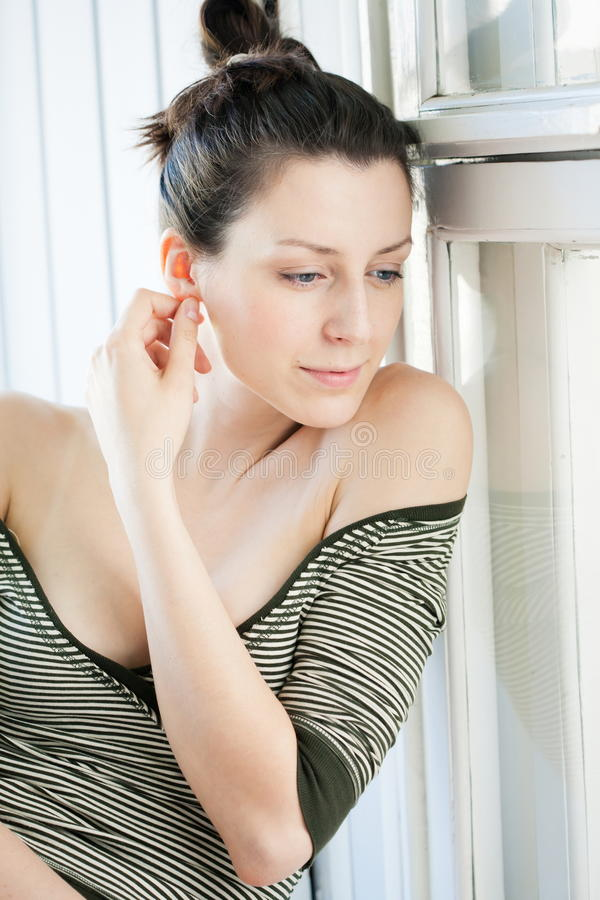 Download Beauty portrait in window stock photo. Image of window - 24796006