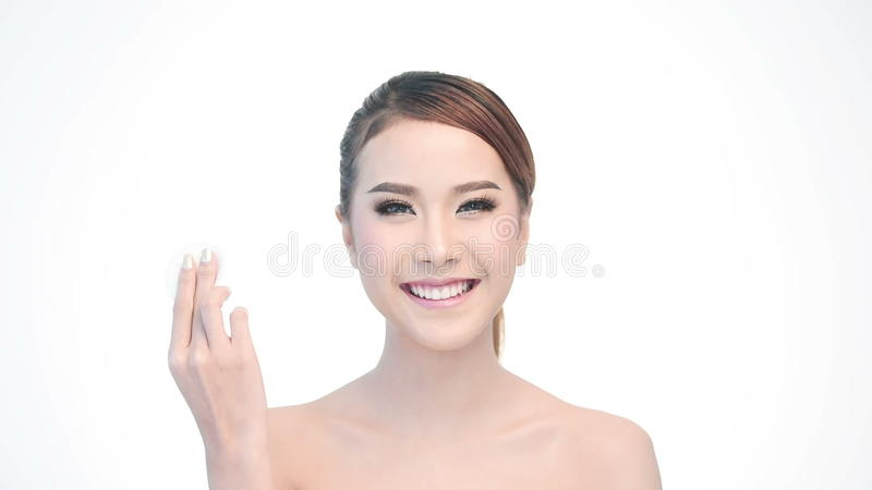 Beauty Portrait Of Woman Beautiful Face In Skincare Concept Stock Video Video Of Attractive Adult 59224885