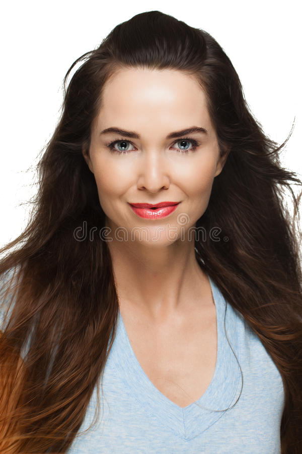 Beauty portrait of woman royalty free stock photos