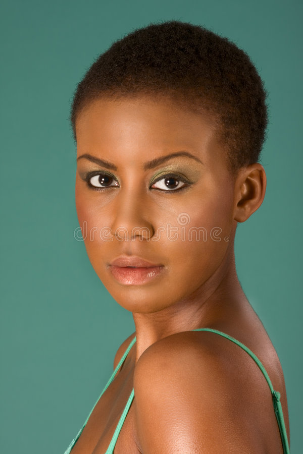 Beauty portrait of young African American woman royalty free stock photography