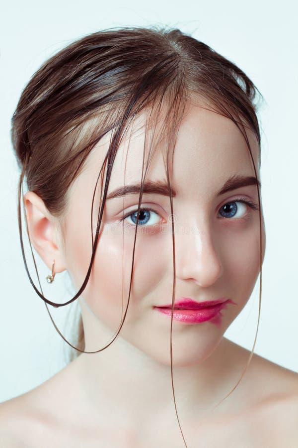 Beauty portrait of young girl. Morning gentle way stock photo