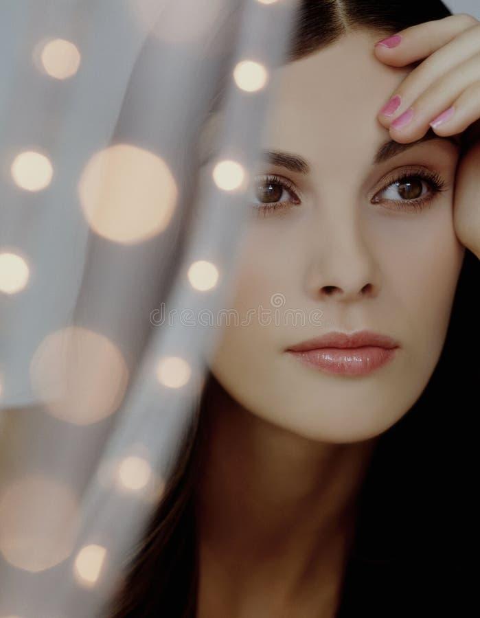 Beauty Pose Stylish modelo imagen de archivo libre de regalías