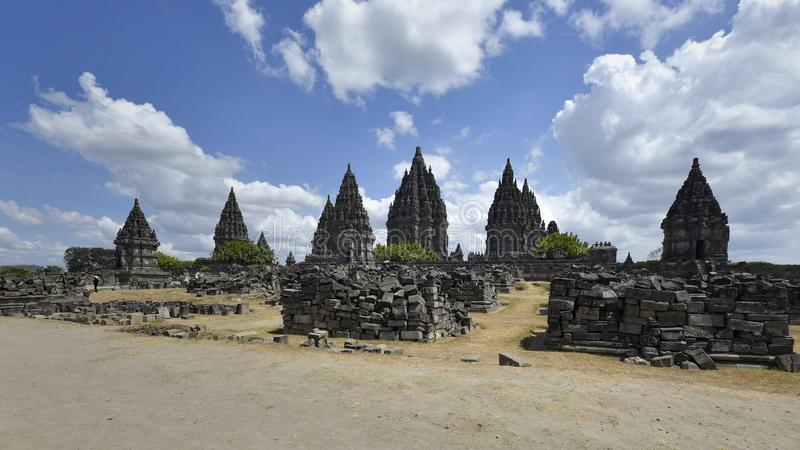 The beauty of Prambanan temple in the afternoon, Yogyakarta - Indonesia stock photography