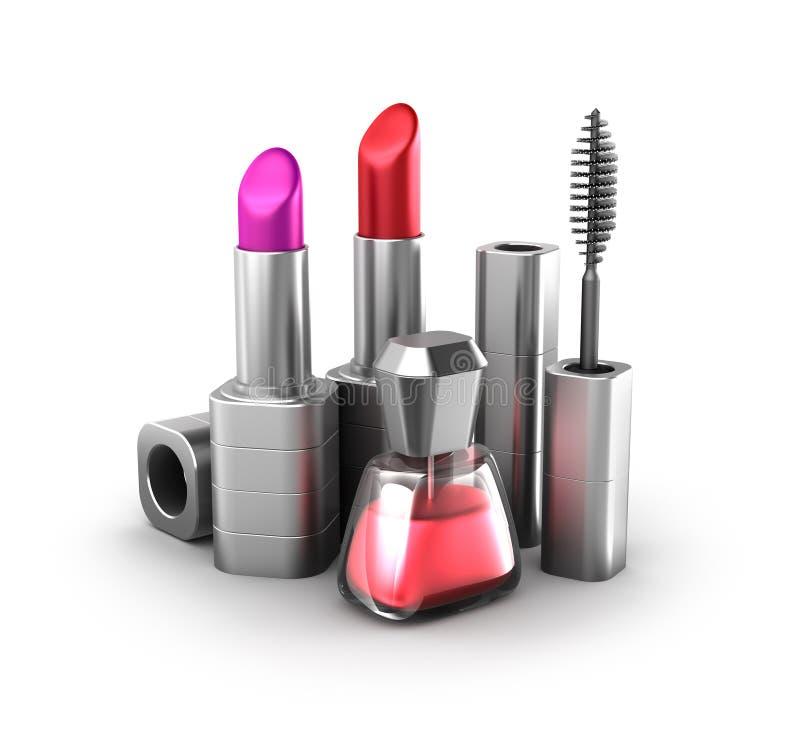Beauty Products: Lipstick, Nail Polish And Mascara Stock ...