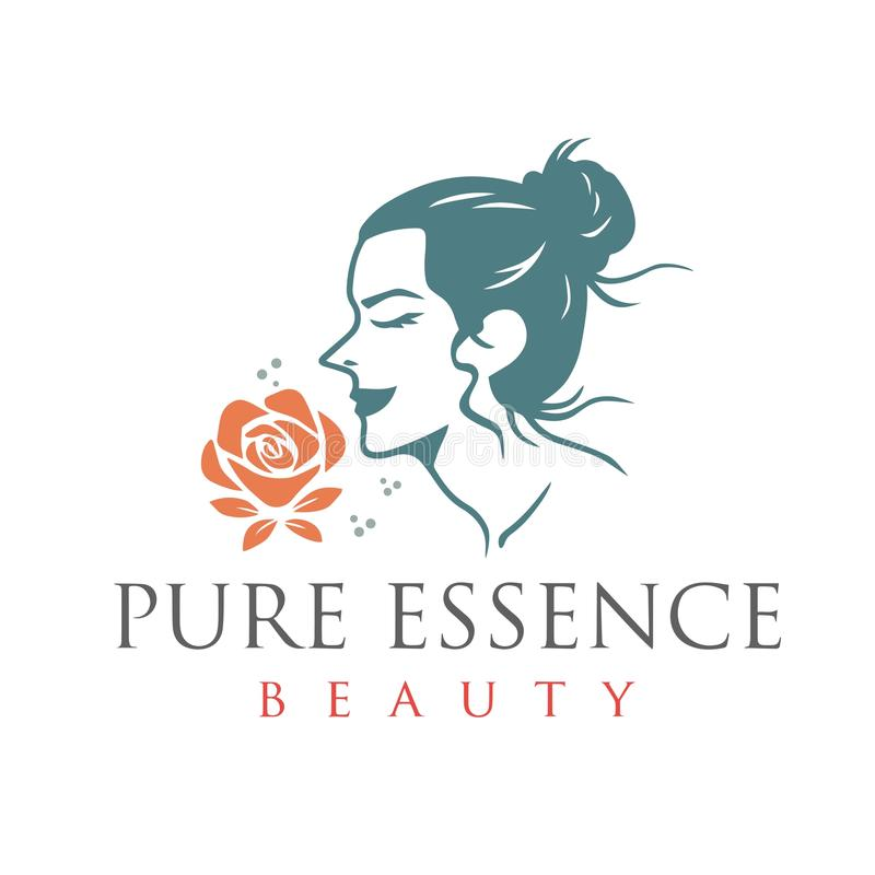 Beauty Pure Essence Spa Therapy Logo Design Template Vector royalty free illustration