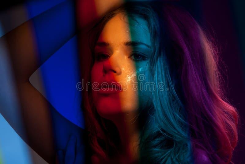 Beauty In Rainbow Colors Stock Photo