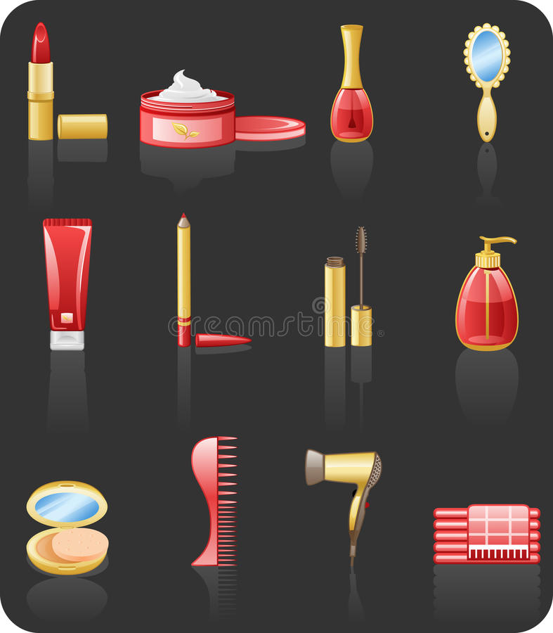 Download Beauty Red Icon Set. Stock Images - Image: 13652414