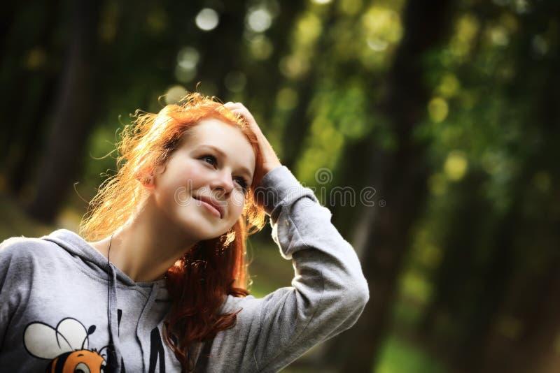 Beauty Romantic Girl Outdoors stock photography