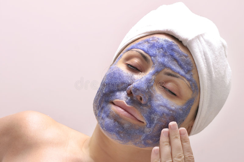 Beauty routine stock images