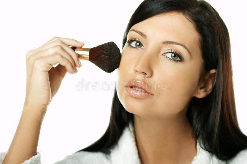 Beauty routines royalty free stock photography