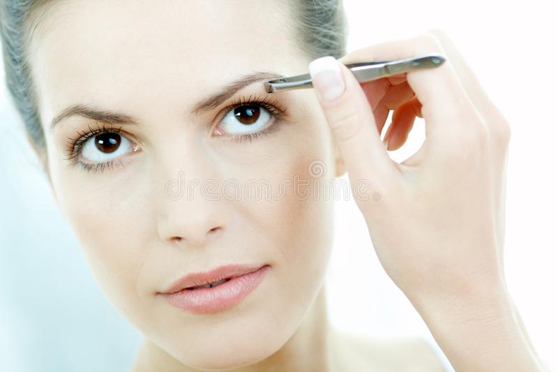 Beauty routines 2 royalty free stock photo