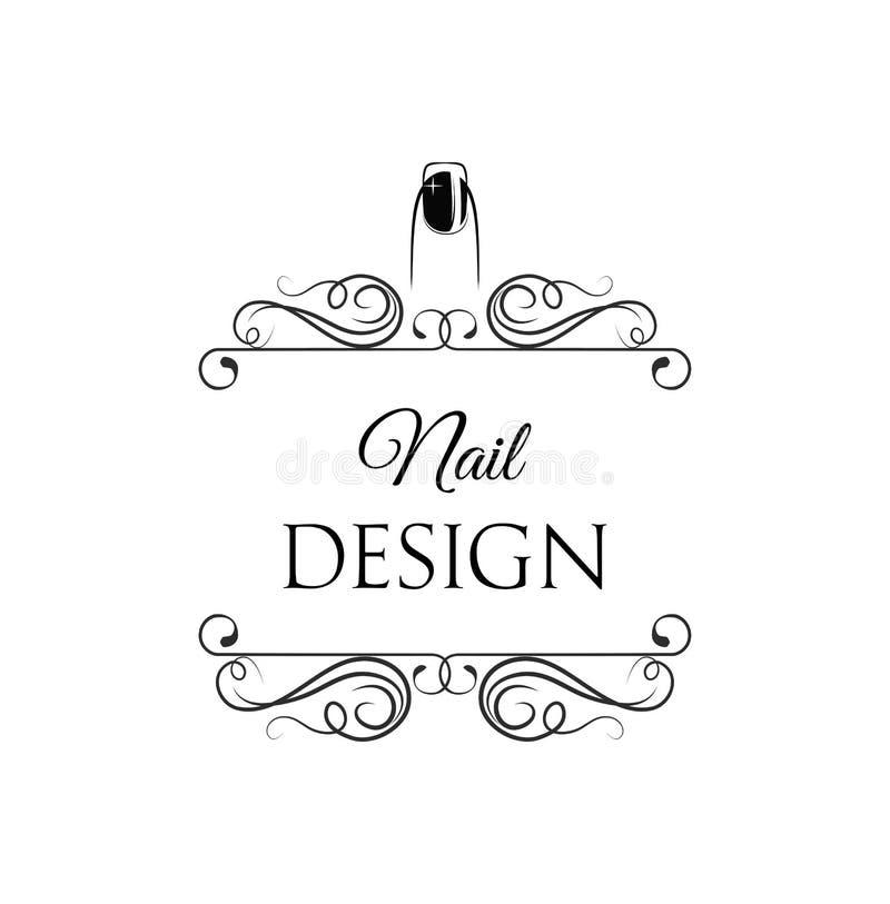 Beauty Salon Badge. Nail Design. Makeup. Filigree Divider Swirl ...