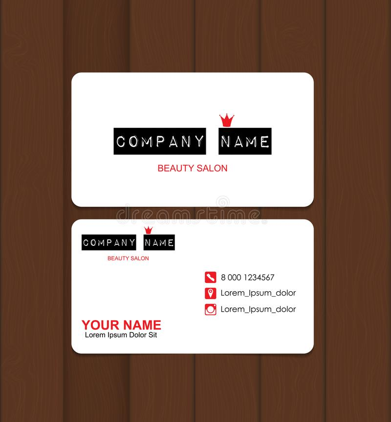 Beauty salon business card template vector illustration stock download beauty salon business card template vector illustration stock vector illustration of makeup flashek Choice Image