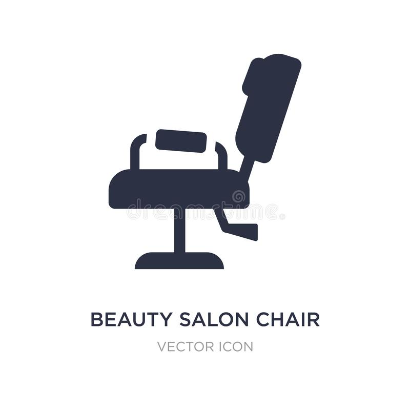 Beauty salon chair icon on white background. Simple element illustration from Beauty concept. Beauty salon chair sign icon symbol design stock illustration