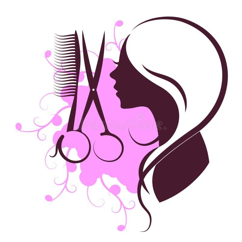 Beauty salon design. Beauty salon and hairdresser for women symbol design vector illustration