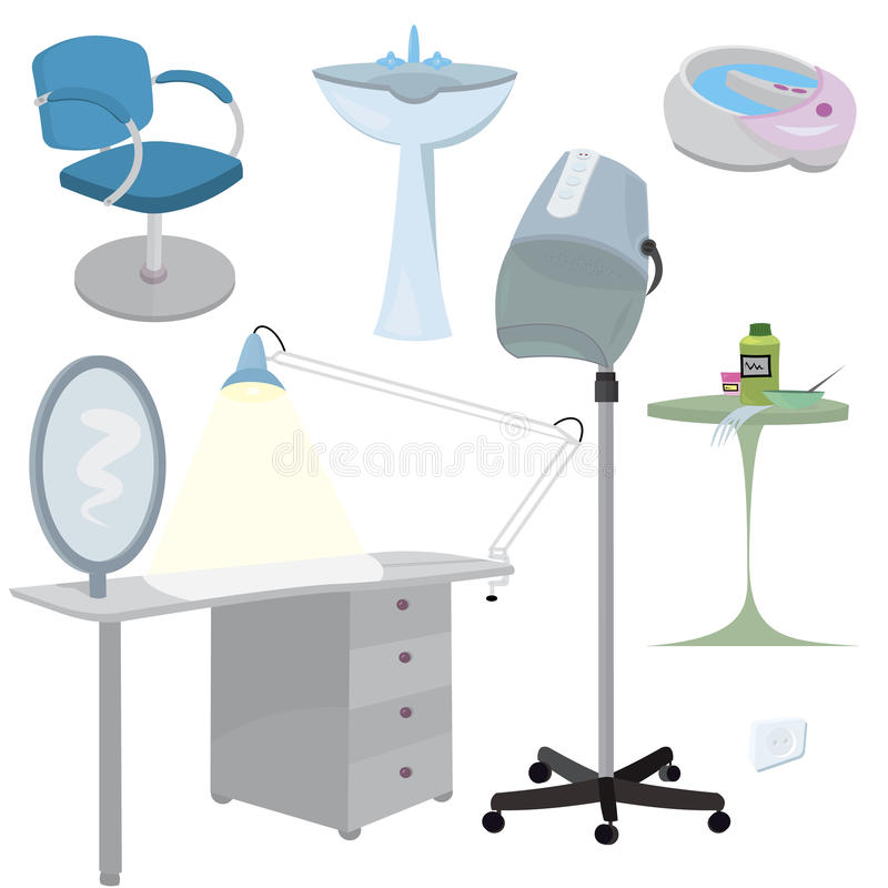 Download Beauty Salon Furniture  Icon Set Stock Vector - Image: 21889338
