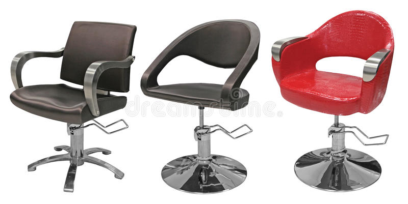 Beauty salon hairdresser chair royalty free stock image