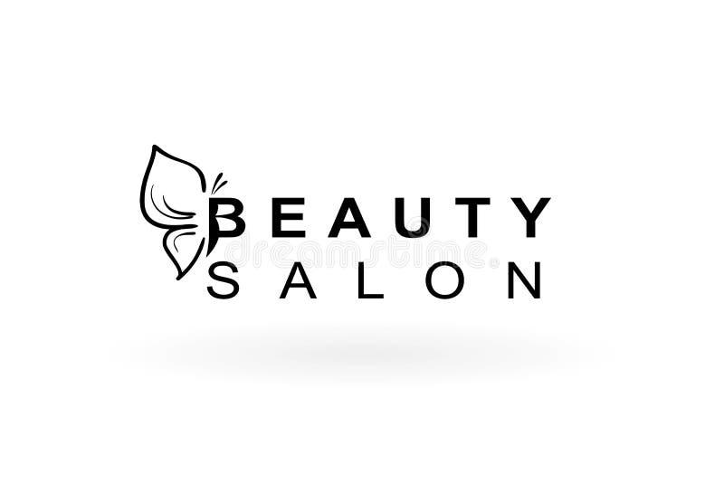 Beauty salon logo. With butterfly royalty free illustration