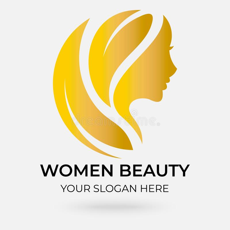 Beauty salon logo design vector illustration