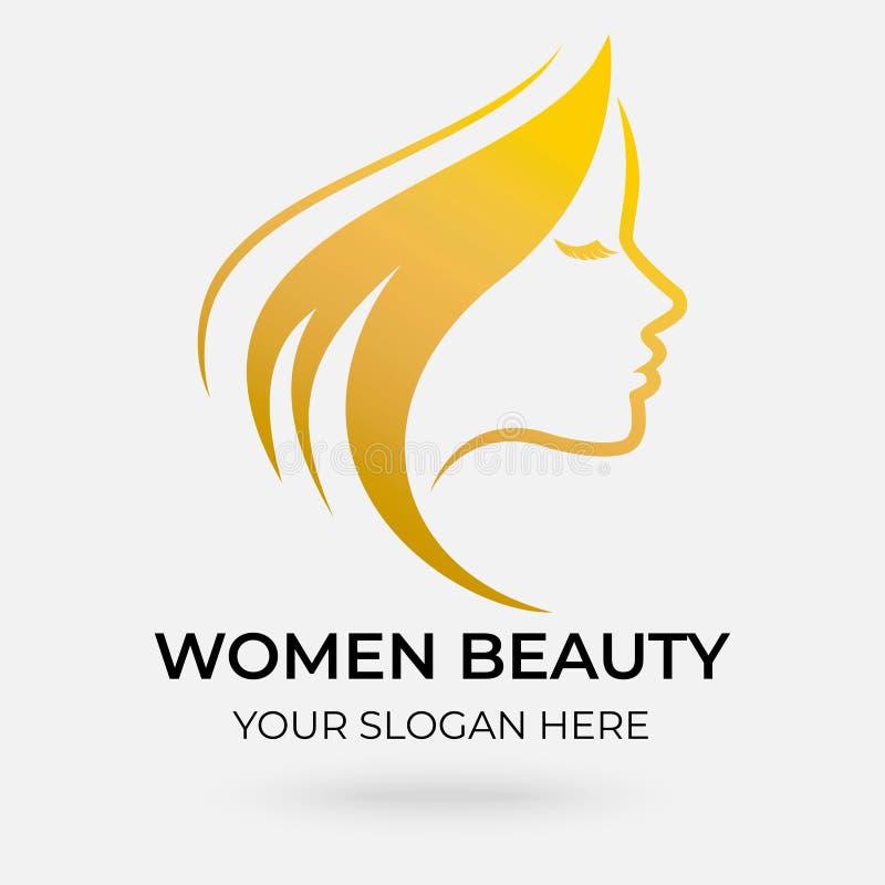 Beauty salon logo design royalty free illustration