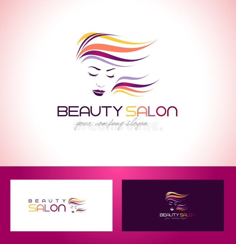Beauty Salon Logo Design. Beauty Female Face Logo Design.Cosmetic salon logo design. Creative Woman Face Vector. Hair Salon Logo royalty free illustration