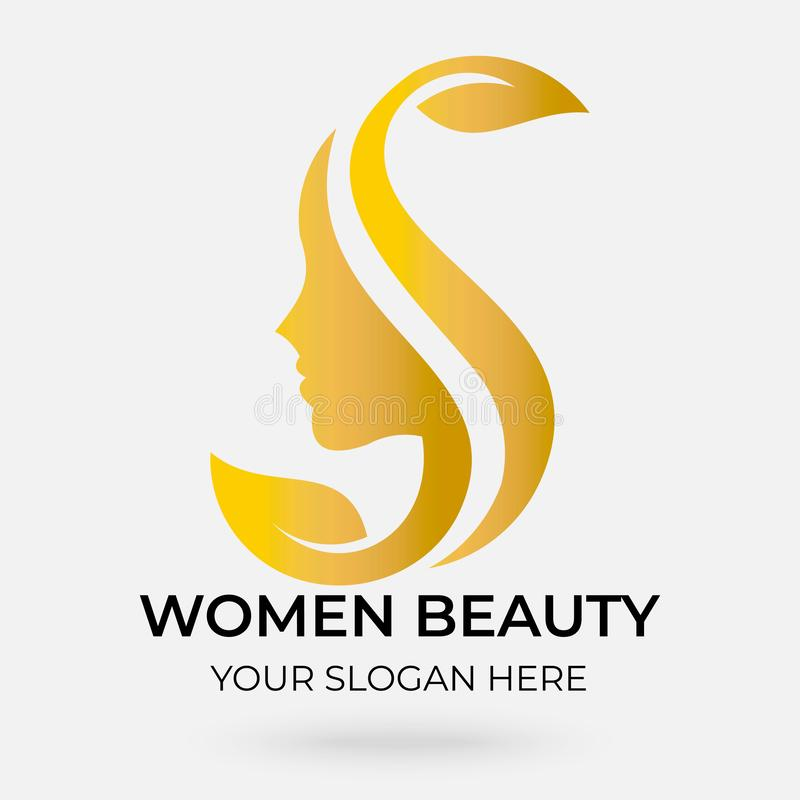 Beauty salon logo design stock illustration