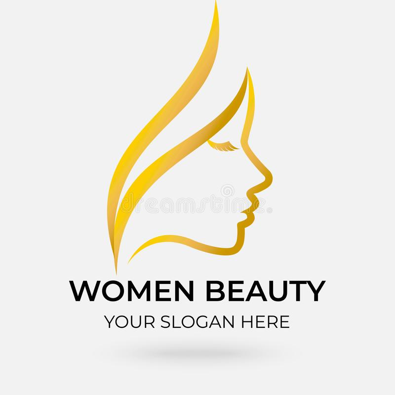 Beauty salon logo design royalty free illustration