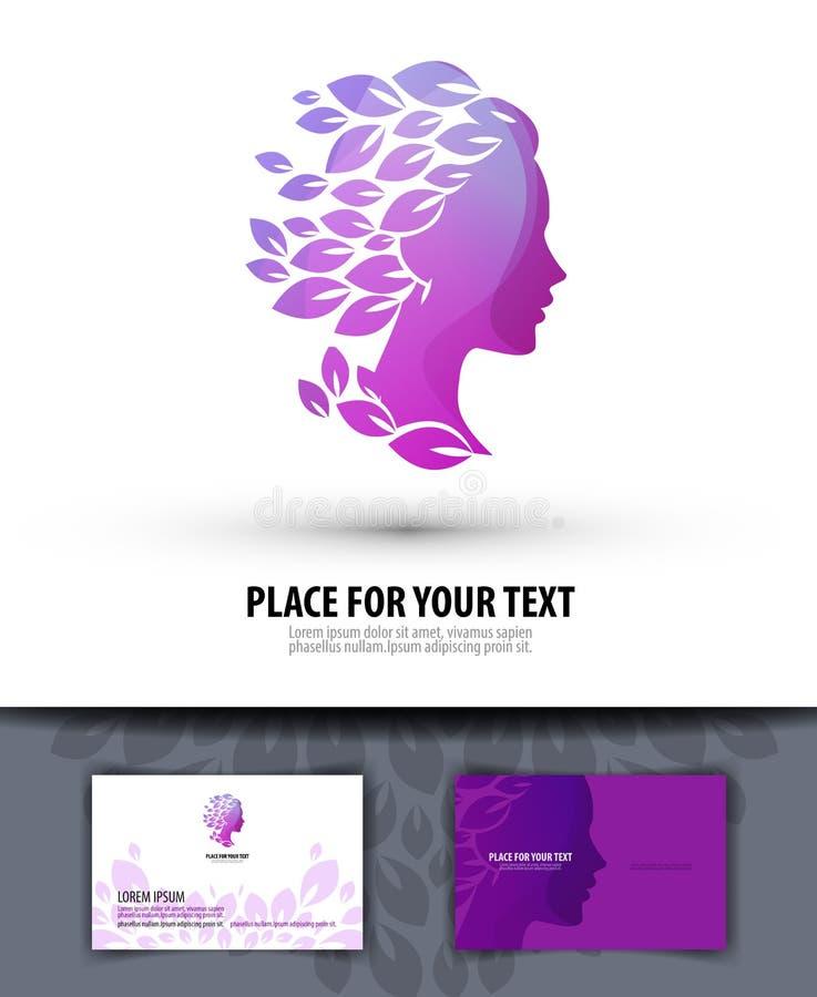 Beauty salon. Logo, icon, emblem, template, royalty free illustration